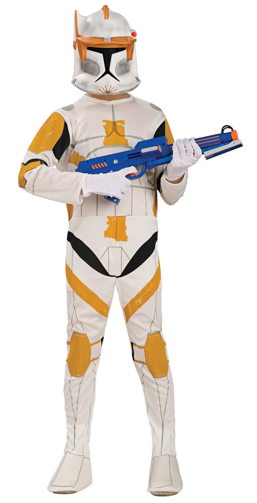 Faschingskostüm Damen Prinzessin Star Wars™-kinderkostüm Clone Trooper Cody Weiss-orange