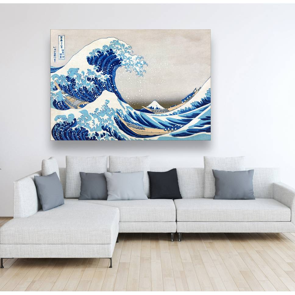 Leinwand Japanische Kunst The Great Wave