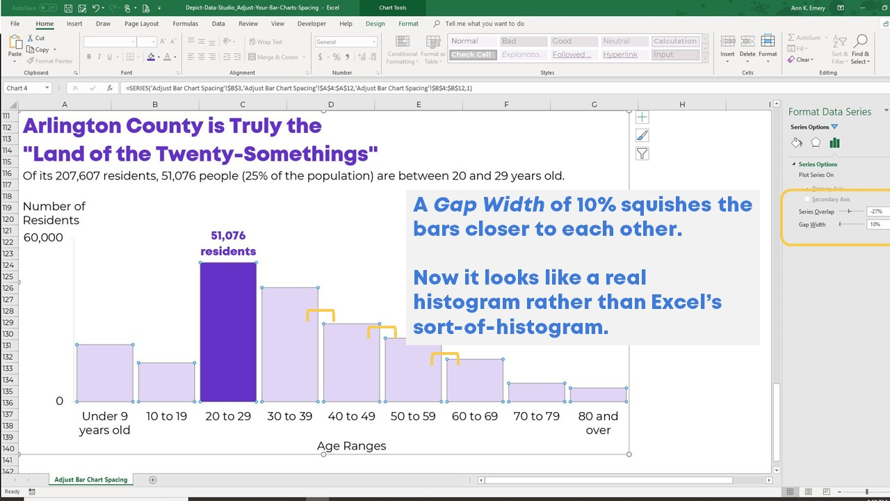 Bar Data How To Adjust Your Bar Chart S Spacing In Microsoft Excel Depict