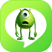 LINE_theme icon monster inc mike