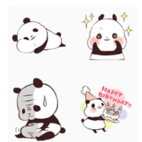 line原創貼圖限時免費-熊貓 Yururin Panda-sp
