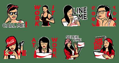 line sticker5039