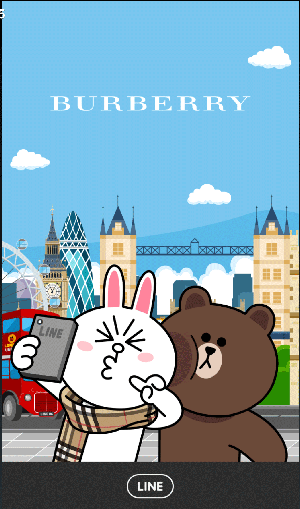 LINE免費主題-熊大兔兔burberry (1)