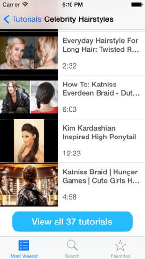 ios限免、限時免費軟體app遊戲-Hair Tutorial 1
