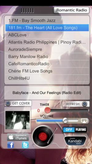 iOS限免、限時免費軟體app遊戲-Romantic Radio 1