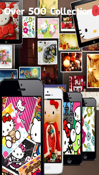 iOS限免、限時免費軟體app遊戲-Hellokitty Christmas Wallpapers® 1