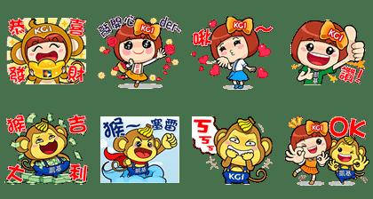 line sticker5859
