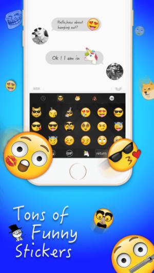 iOS限免、限時免費軟體app遊戲-New Emoji Keyboard 2
