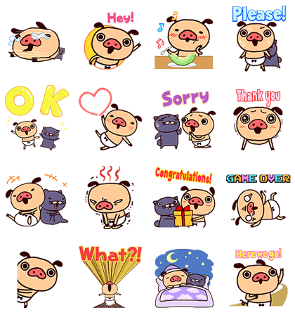 LINE POP UP STICKERS (20)