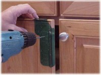 How to Install Cabinet Hardware: Install Cabinet Knobs