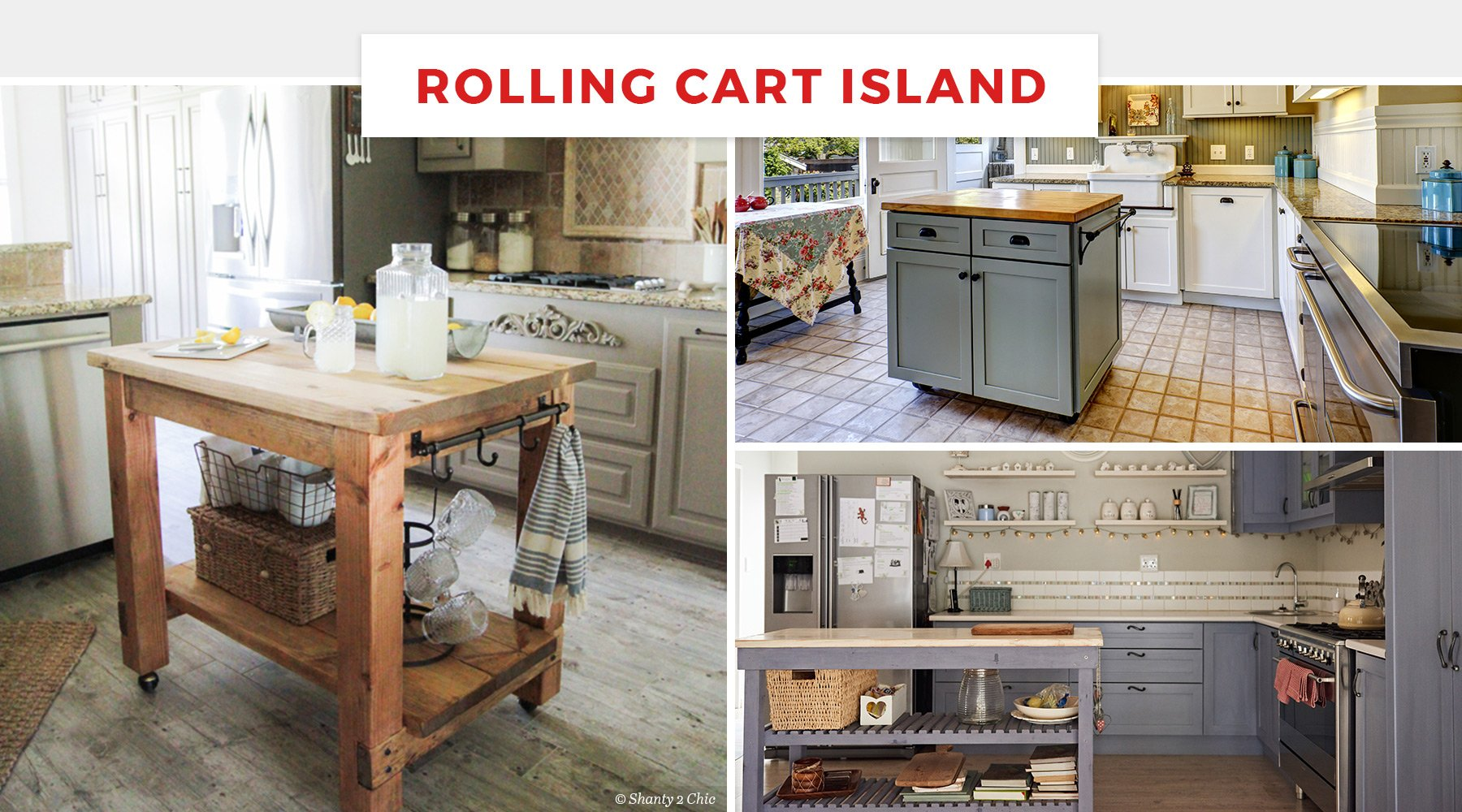 Rolling Kitchen Island Ideas 65+ Best Kitchen Island Ideas For 2018