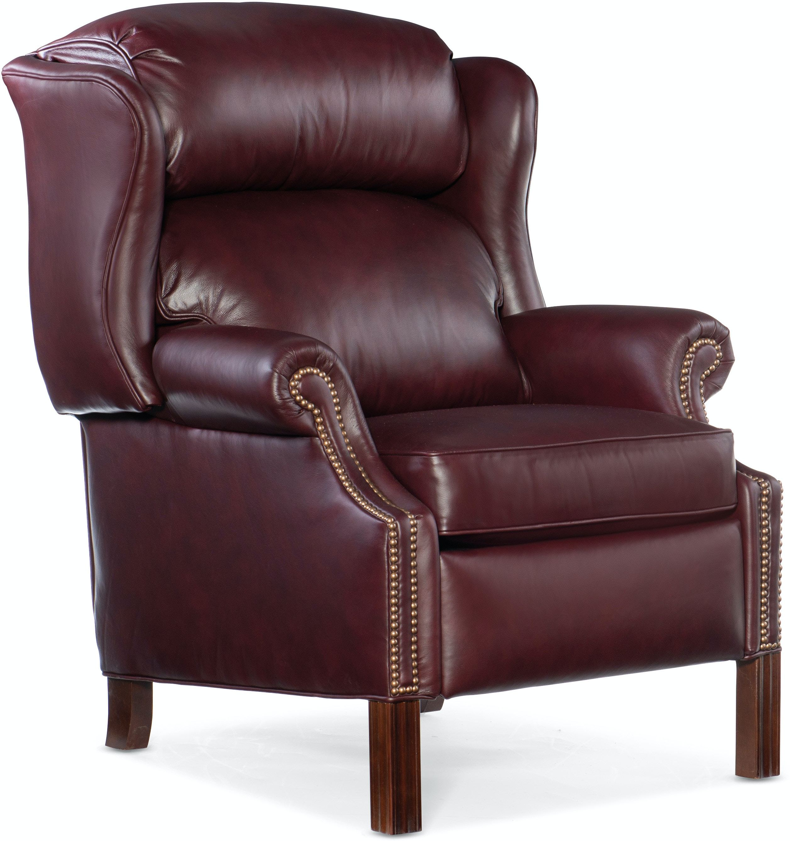 Chippendale Leather Reclining Wing Chair By Bradington Young 2922 Callan Furniture