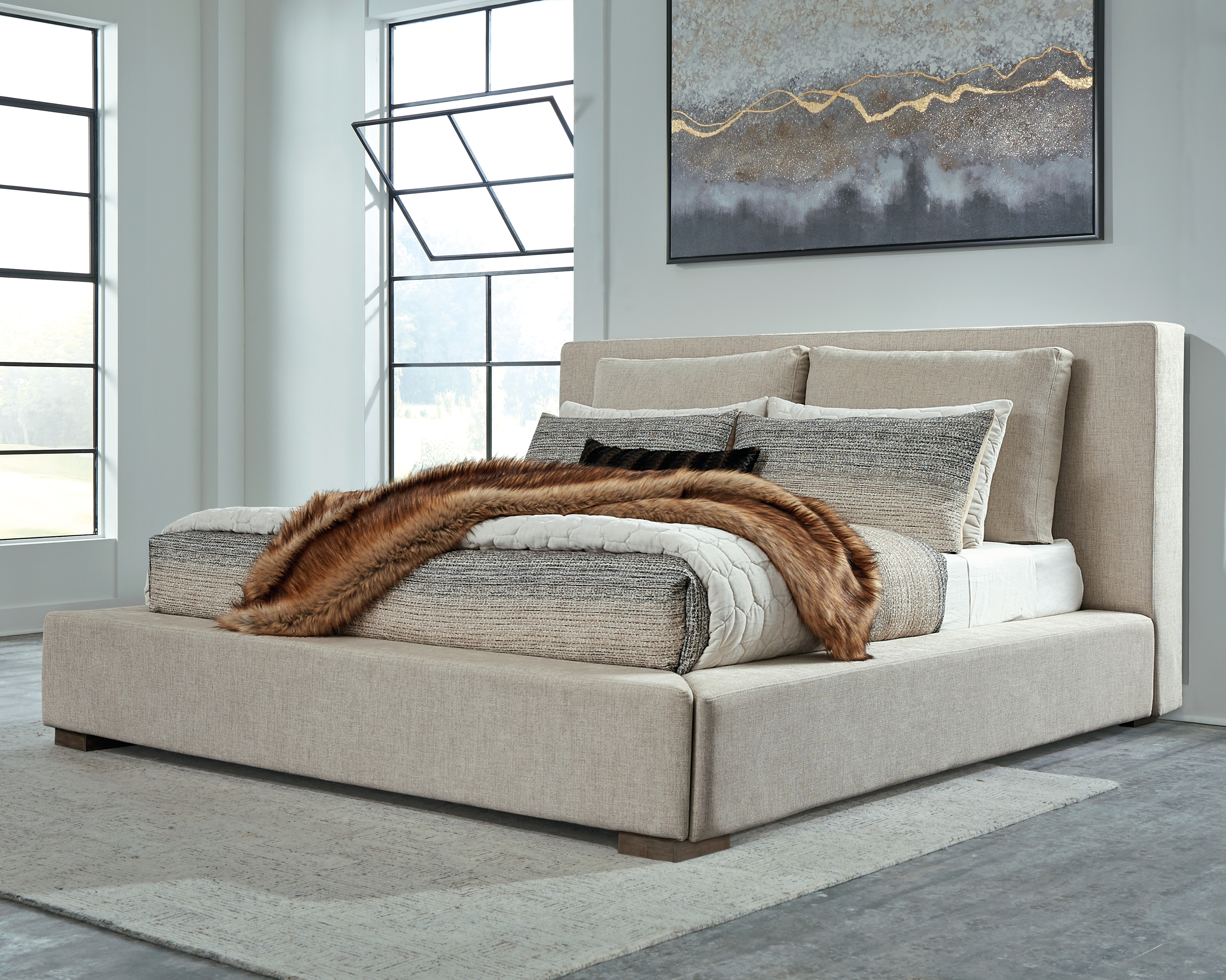 Langford King Upholstered Bed By Millennium By Ashley Nis712129405 The Furniture Mall