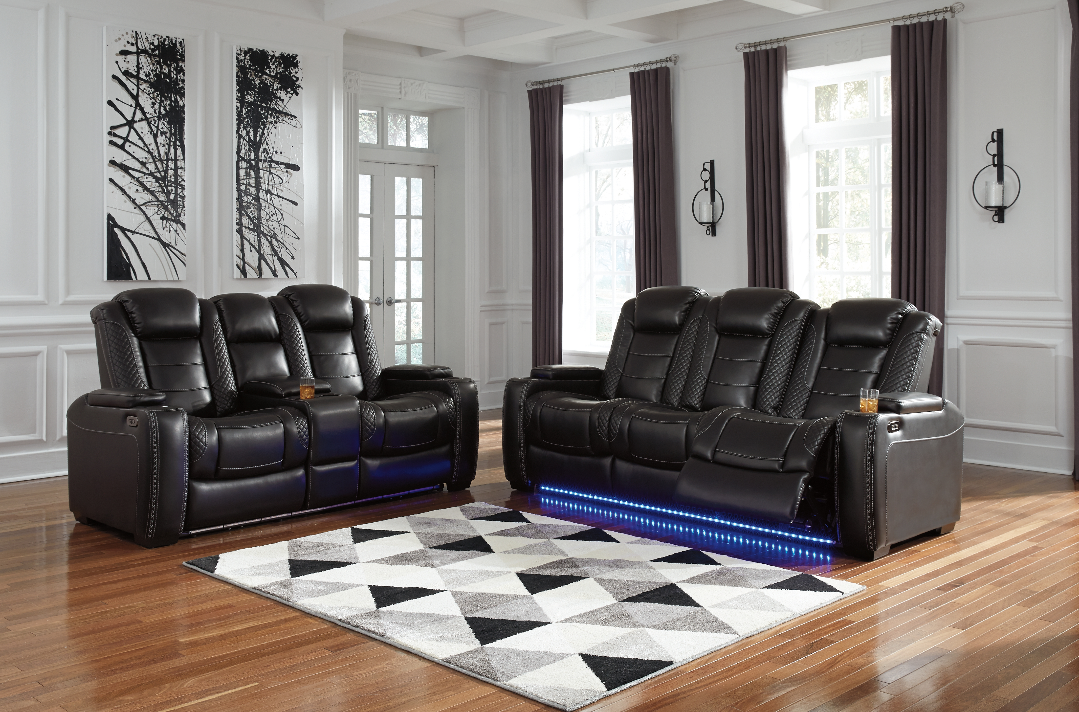 Party Time Power Reclining Sofa By Signature Design By Ashley 101368341 Turner S Budget Furniture