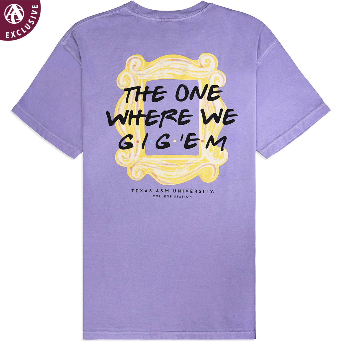 T Shirt Frame Texas A M The One Where We Gig Em T Shirt