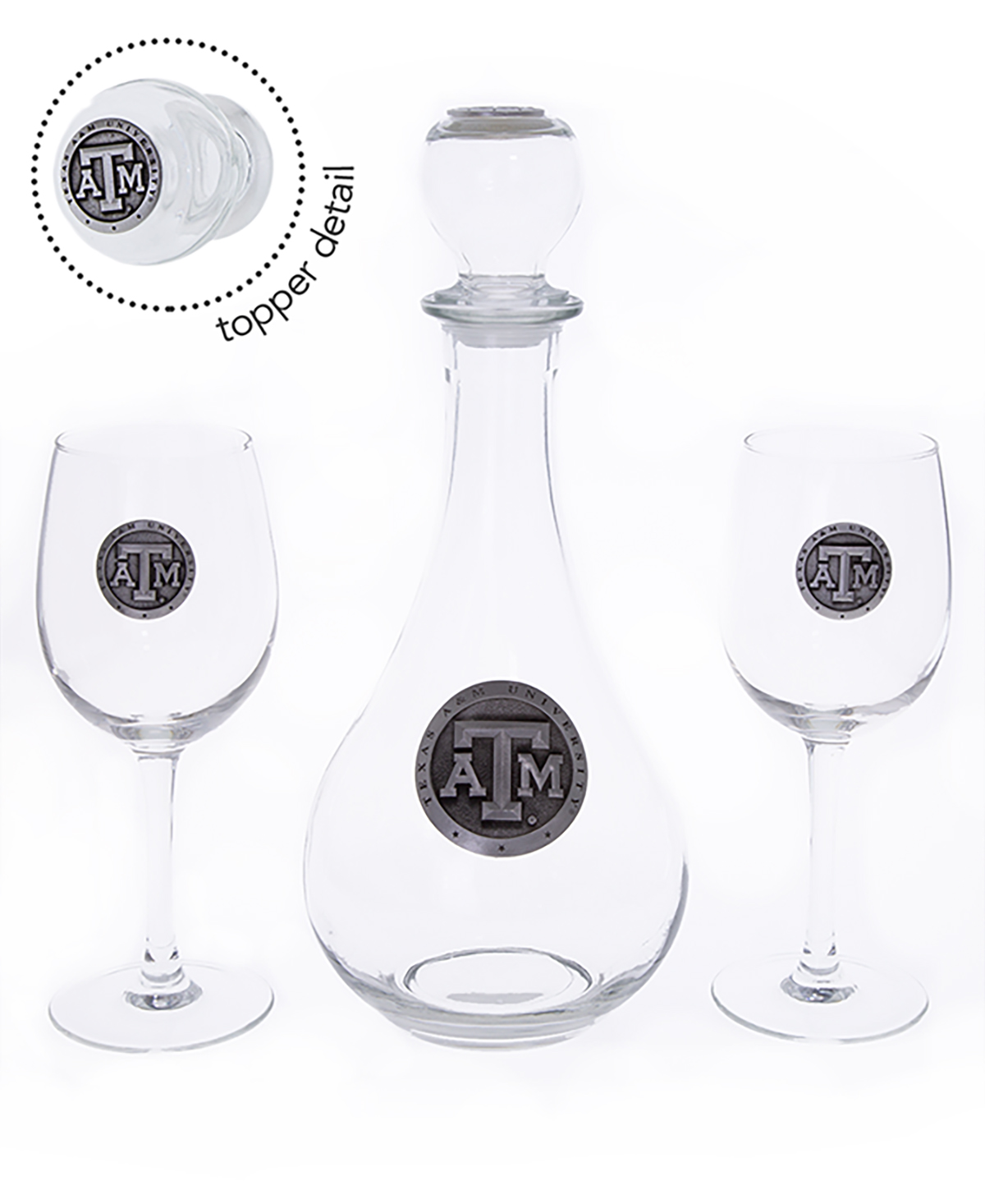 Decanter Wine Glas Texas A M Wine Boxed Decanter Set