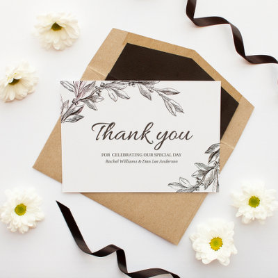 Who Do You Send Thank You Cards To After the Wedding?