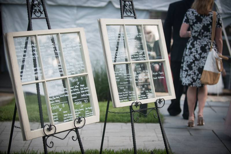 DIY Add Chic Charm to Your Wedding With a Windowpane Seating Chart
