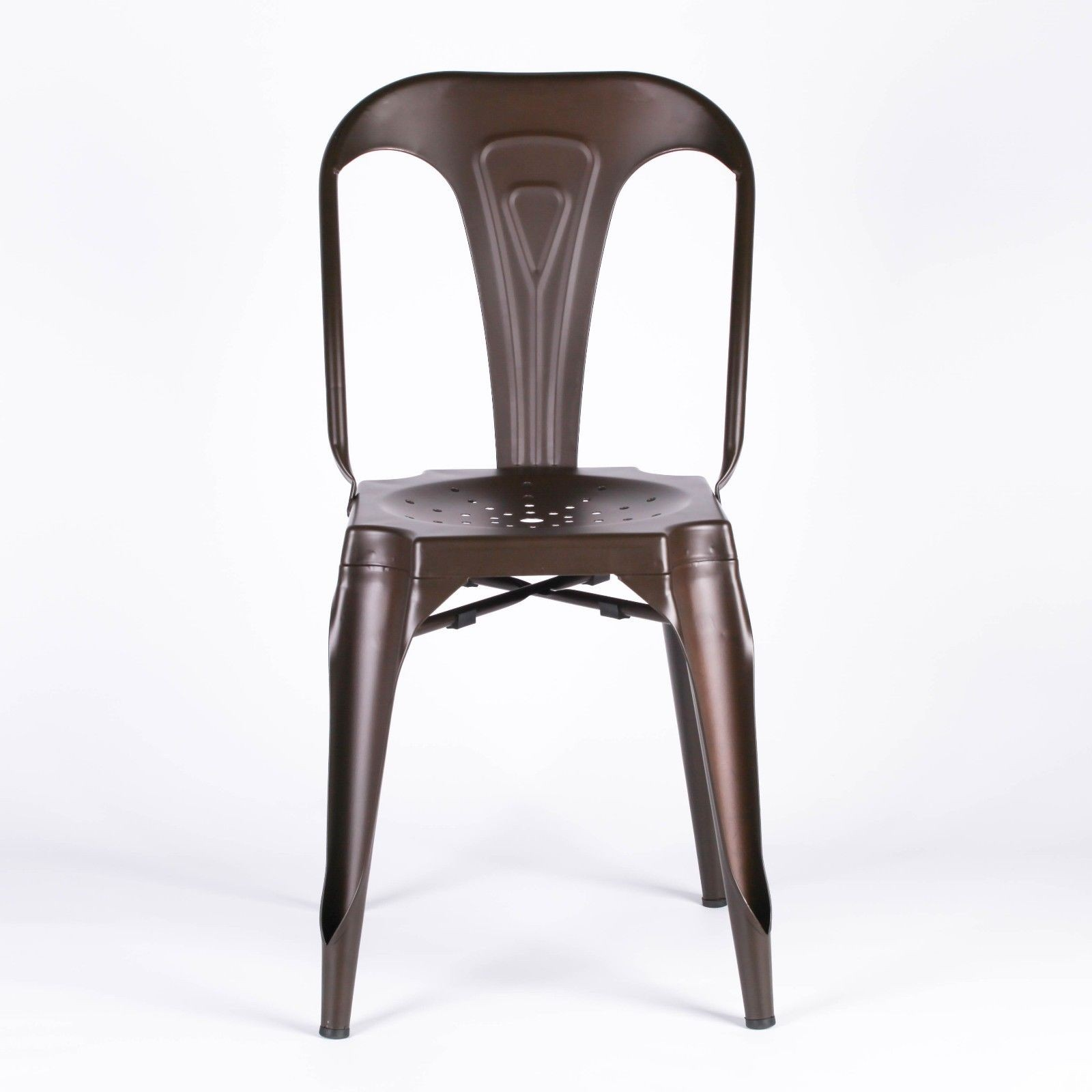 Industrial Look Chairs Industrial Style Metal Zinc Effect Dining Chair Furniture
