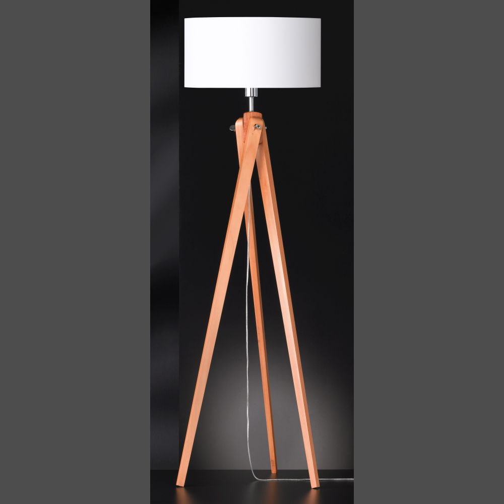 Holz Stehlampe Tolles Raumlicht Mit Holzstehlampe Led