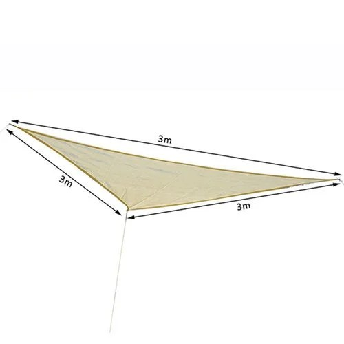 Voile D'ombrage Triangle Rectangle Voile D Ombrage Triangulaire 3x3x3 M Crème Beige Outsunny