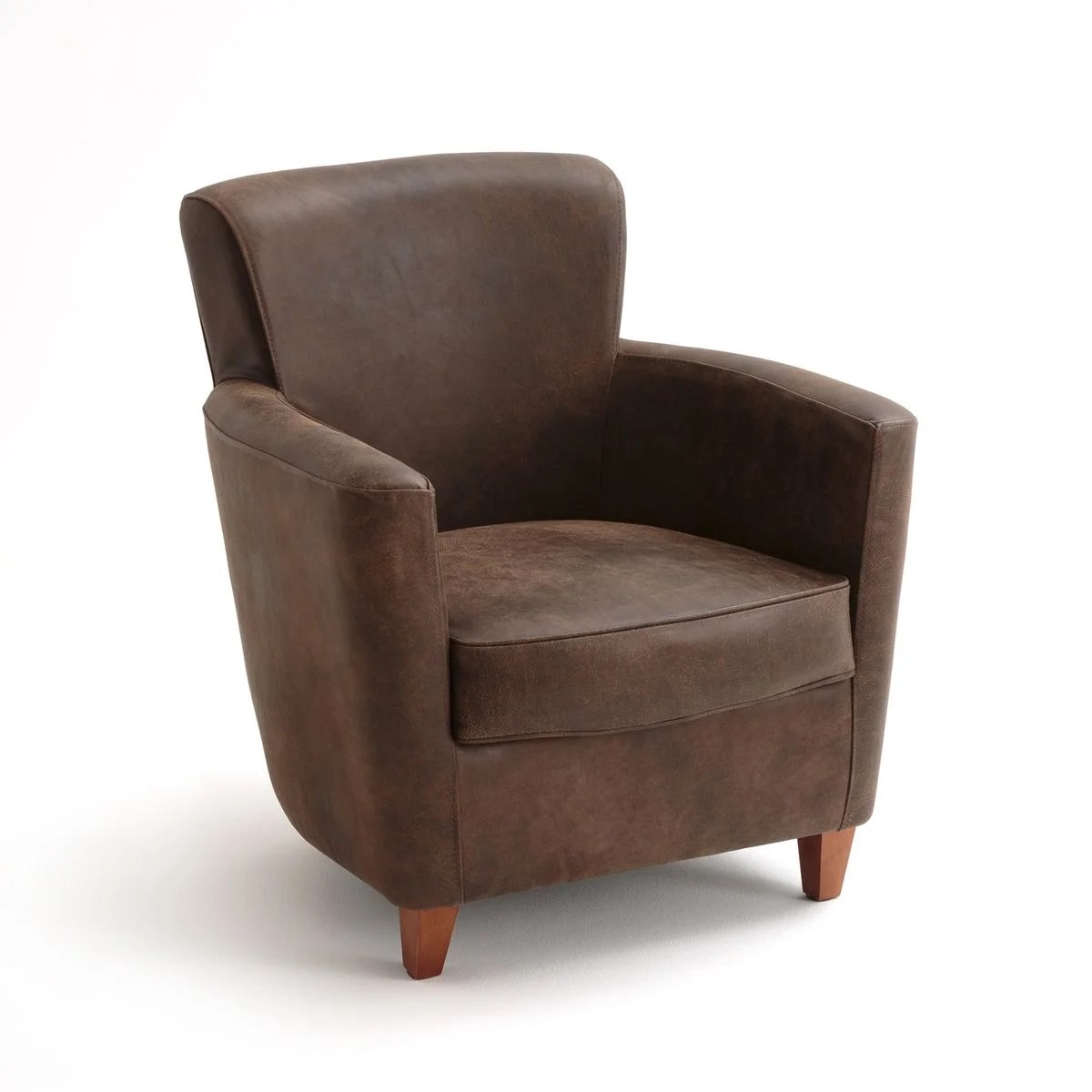 Fauteuils Am Pm La Redoute Fauteuil Club Cuir, Mathesson Marron Am.pm | La Redoute