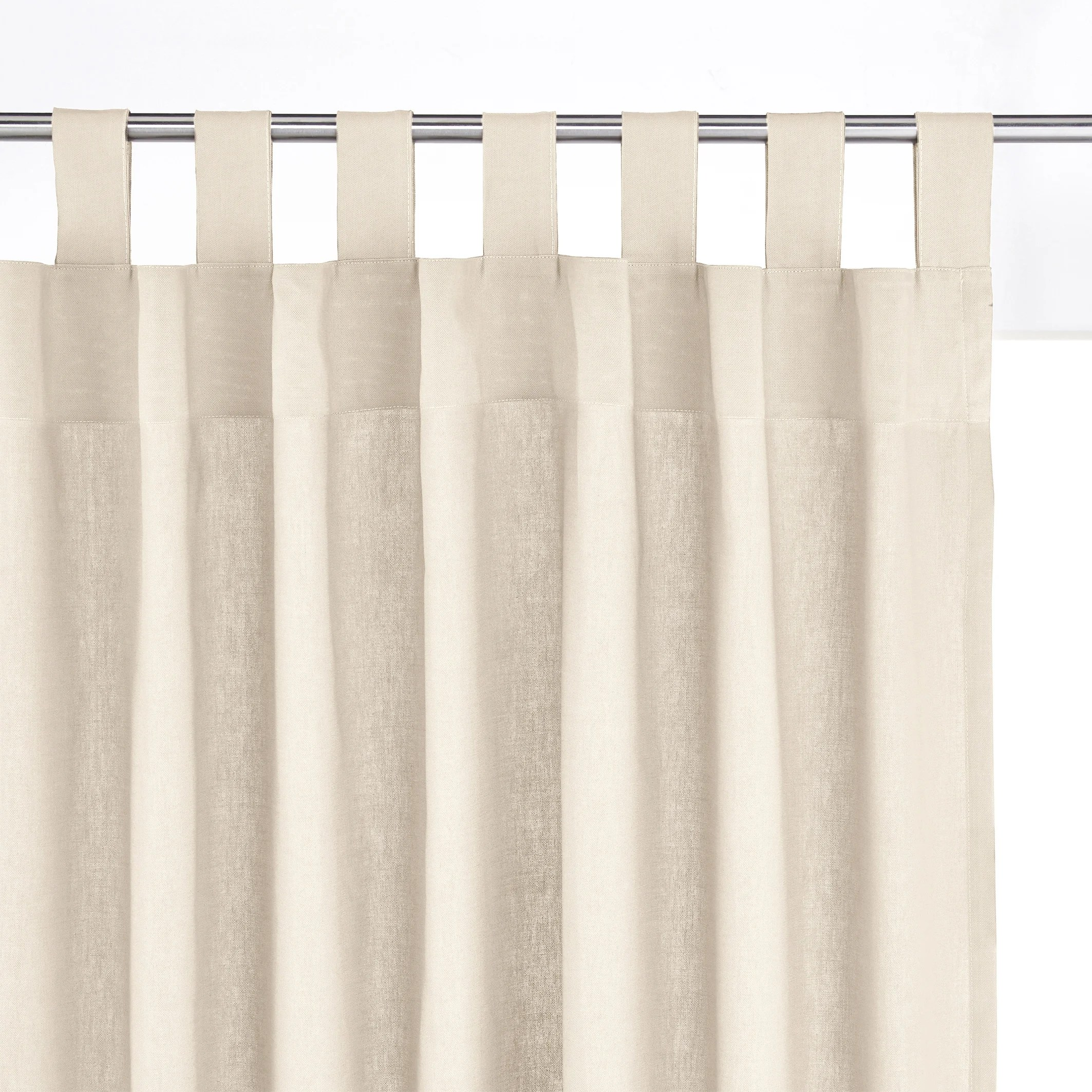 Cortinas La Redoute Cotton Tab Top Single Curtain La Redoute Interieurs | La