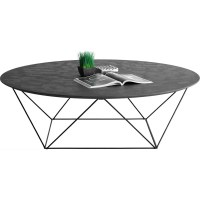 Table basse en mtal et bton cir gris Delorm | La Redoute