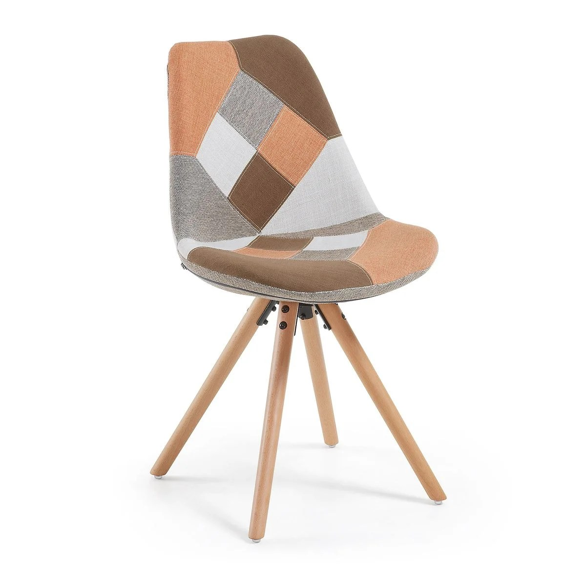 Chaise Ralf Chaise Ralf Patchwork Orange Naturel, Multicouleur Kave
