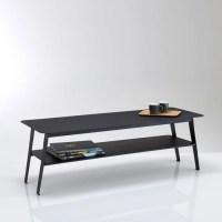 Table basse double plateaux en mtal, hiba noir La Redoute ...