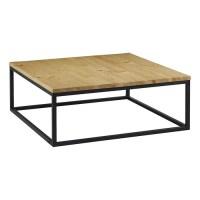 Grande table basse mtal et bois naturel Jardindeco | La ...