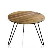 Table basse de salon ronde en bois et mtal bois Wadiga ...