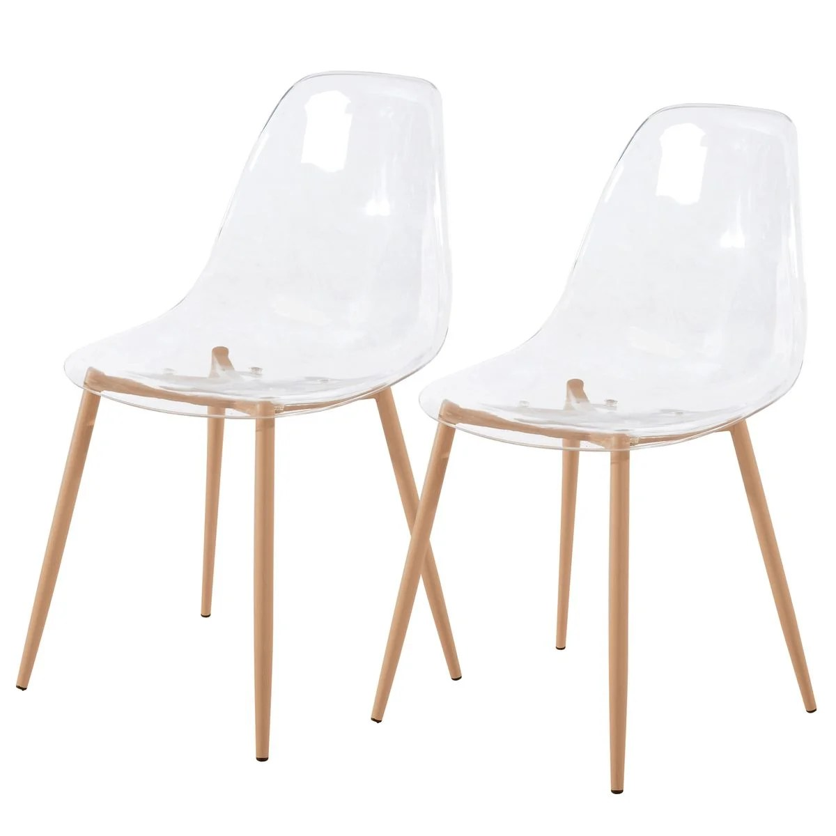 Lot De 6 Chaises Transparentes Chaise Fredrik Transparente (lot De 2) Transparent Rendez