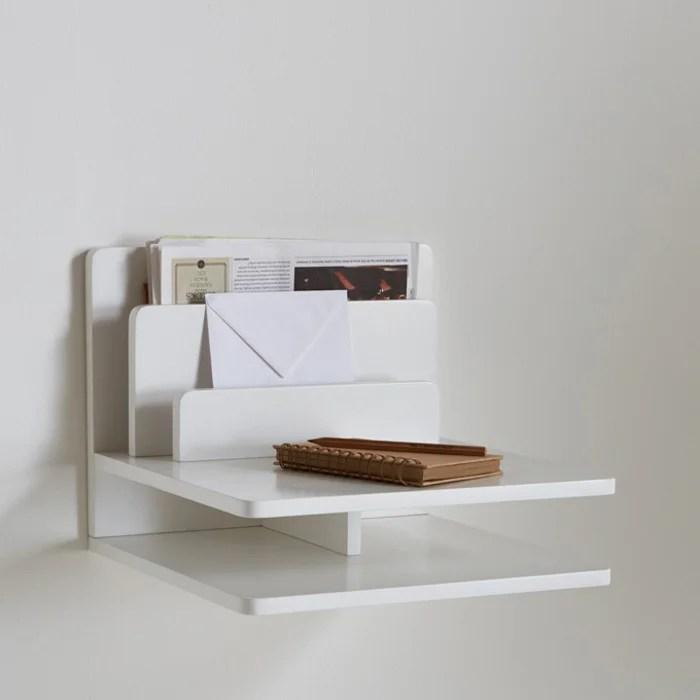 Okage Floating Bedside Shelf White La Redoute