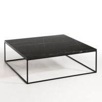Table basse mtal noir et marbre, mahaut marbre noir Am.Pm ...