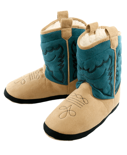 Cowboy Boot Slippers By Lazyone