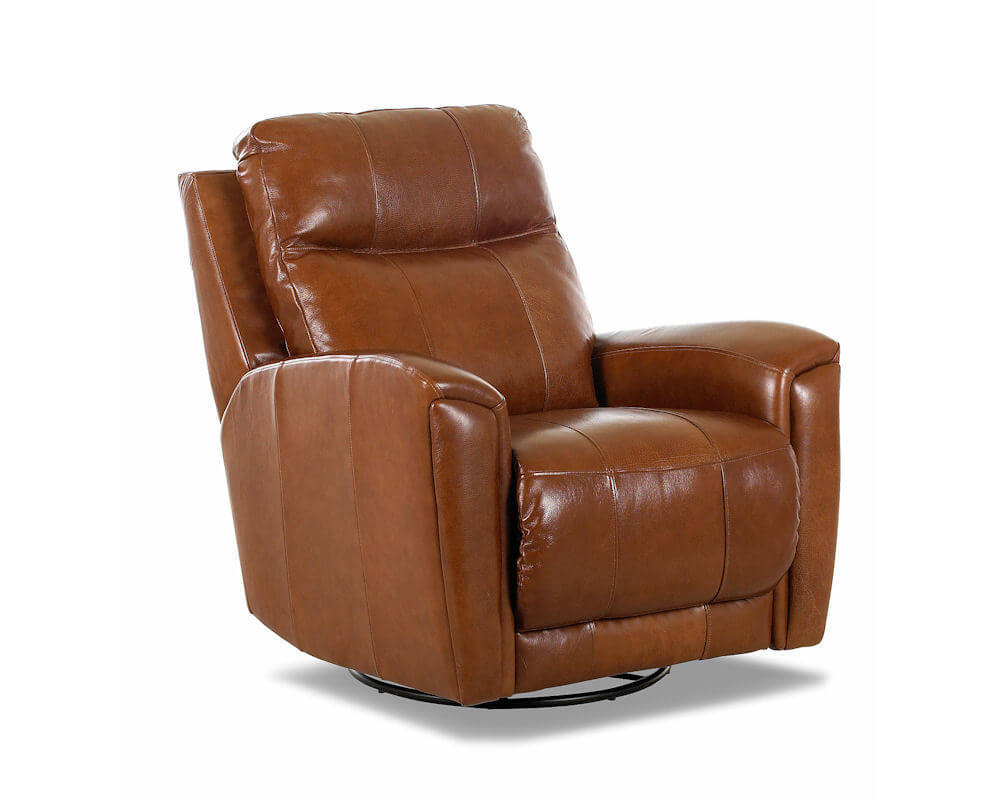 Chair Leather Reclining Swivel American Made Reclining Swivel Leather Chairs Clp103