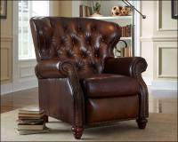 American Made Tufted Leather Recliner