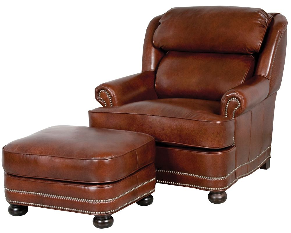 Leather Chairs And Ottomans Sale Classic Leather Hamilton Chair 2651