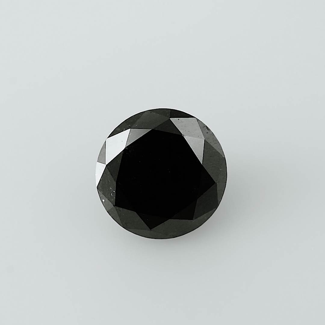 Black Diamond 2 26 Carat Fancy Black Diamond Round Shape Gia Sku 310625