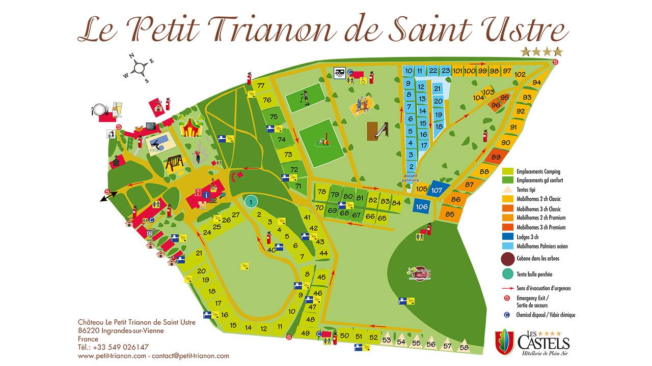 Le Petit Trianon 4 Star Campsite Poitou Charentes