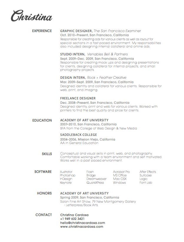 30 Special Resume Designs To Impress Employers - temp job on resumes