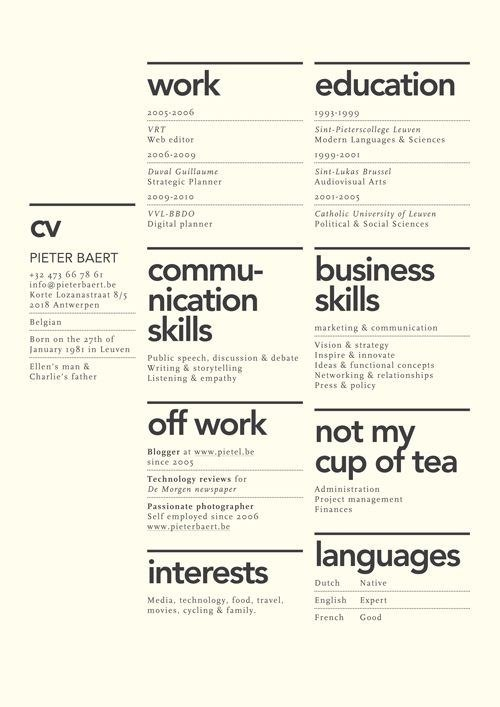 7 Creative Resume Design Layouts That Will Set You Apart - layout for a resume