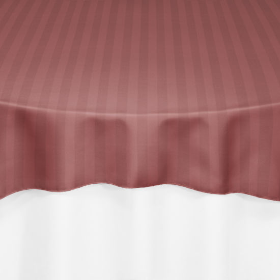 Dusty Rose Satin Stripe Table Linen by Chair Covers & Linens