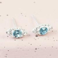 Sterling Silver Diamante Eye Stud Earrings | Lisa Angel ...