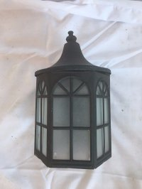 Vtg Arts Crafts Copper Porch Sconce Old Light Fixture Arch ...