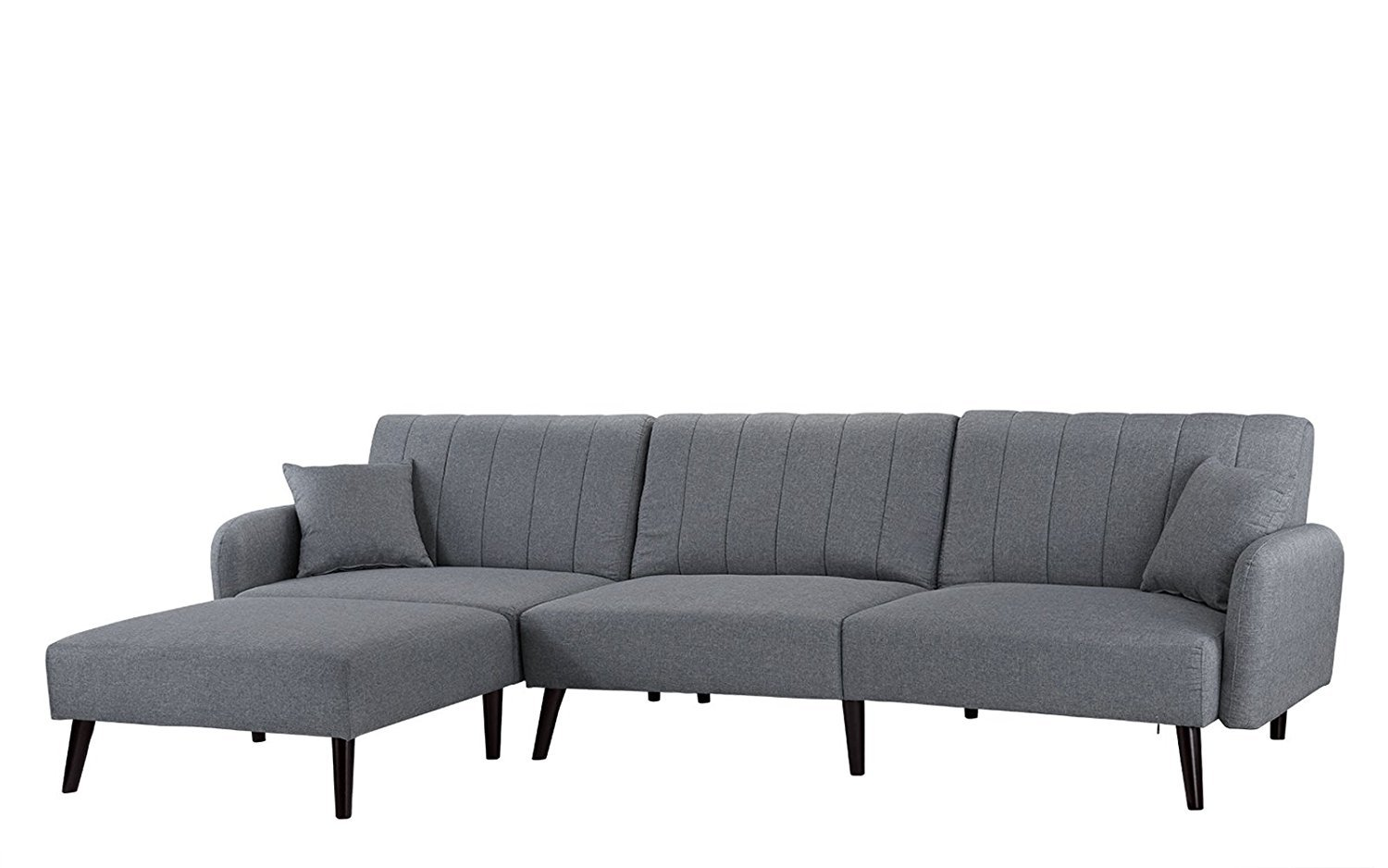 Sofa Bed For Sale Regina Details About Mid Century Modern Fabric Sleeper Futon Sofa Living Room L Shape Light Grey