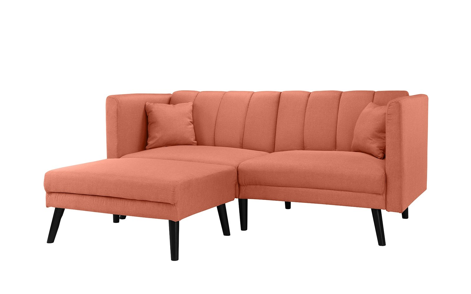 Midcentury Modern Sofa Bed Mid Century Modern Fabric Futon Sofa Bed Sleeper Orange