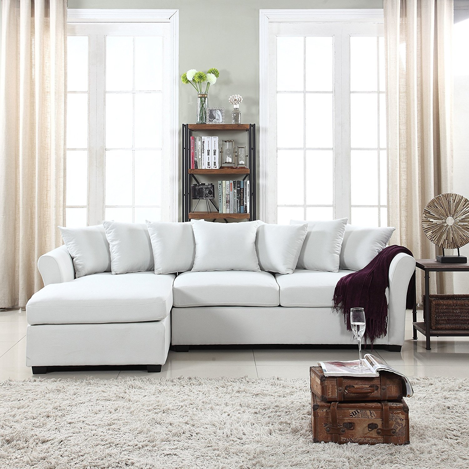 Ebay Sofas Details About Modern Large Fabric Sectional Sofa L Shape Couch Extra Wide Chaise Beige