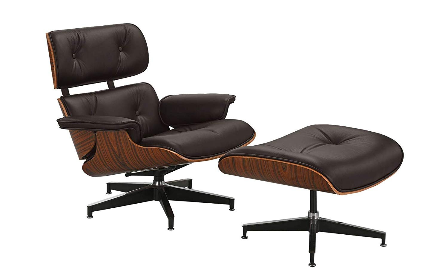 Eames Replica Details About Mid Century Inspired Swivel Lounge Chair And Ottoman Set Eames Replica Brown